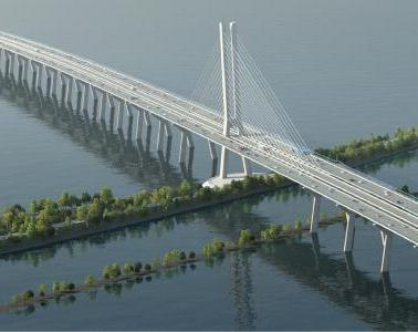 The Samuel de Champlain bridge opens to traffic