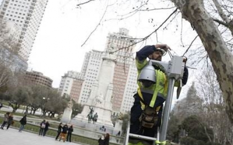 SICE installs 47 new surveillance cameras in the downtown area of Madrid