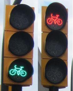 Feux De Circulation Pour Des Vélos