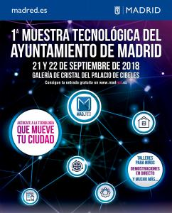 On September 21st and 22nd, Palacio de Cibeles will host the 1st Technology Exhibition of the City of Madrid