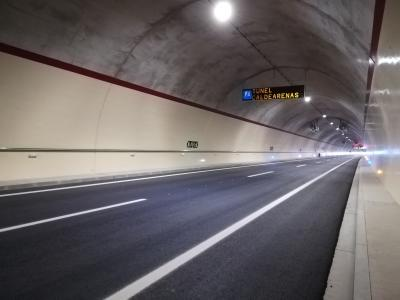 "Three new ""Smart"" tunnels open to traffic in the Huesca Pyrenees: Caldearenas, Arguis and Escusaguas"